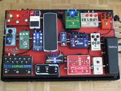 """I was going to say this was a """"small"""" pedalboard, but then I counted the pedals. The possibilities with this one are nigh on endless."""
