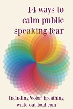 !4 proven ways to manage public speaking anxiety - including learning to 'color' breathe. Public Speaking Activities, Speaking Games, Middle School Ela, Anxiety Help, Out Loud, Learn English, Esl, Breathe, Improve Yourself