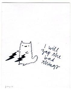 Ha, thanks kitty! // Art by Jen Ray