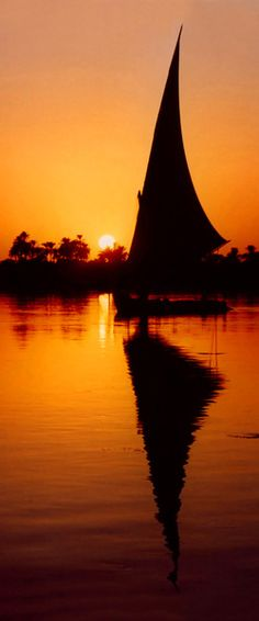 Sunset Felucca in Egypt - ©Serenity Photography (via Society6)