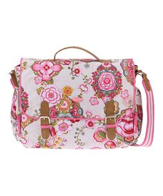 Take a look at this Cream Fantasy Flora Messenger Bag by Oilily on #zulily today!