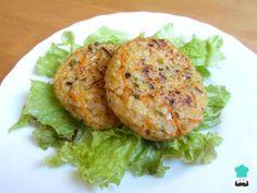 Receita de Hambúrguer de arroz integral #receitafit #comida #arroz #receitafácil #receitarápida #receita