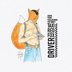 taxi red fox driver
