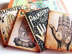 Set de cartes chiromancie Note  Palm lecture par MimiAndLucy