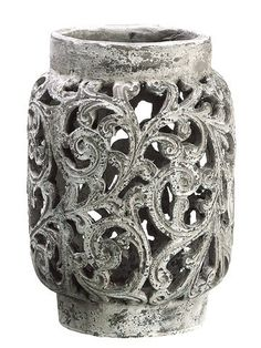 9 AntiqueStyle Distressed Paisley Hurricane Candle Holder >>> Continue to the product at the image link.