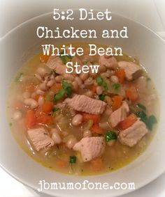 5:2 : Chicken and White Bean Stew 291 calories per serving