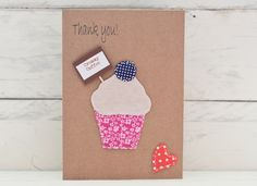 Creamy Coffee Cupcake Thank You Card - Can be personalised £2.00