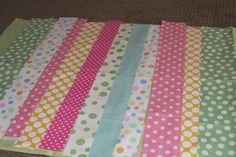 Making an Easy Easter Table Runner- just use one fabric