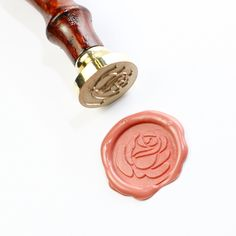 Rose wax seal stamp,  seal stamp, Rose seal stamp. So pretty! Now...when to USE it...