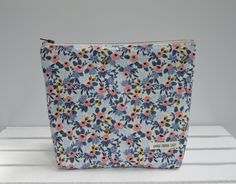Large Zipper Pouch, Rifle Paper Co, Makeup Bag, Project Bag, Supply Bag, Purse, Gifts for her under 30, Organize, Travel Pouch, Bridesmaid