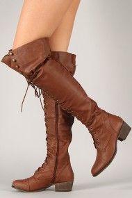 Urbanog - Breckelle Alabama-12 Military Lace Up Boot - Cute, Kind of Robin-Hood-like
