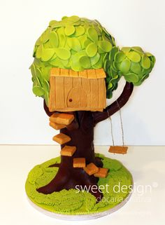 Treehouse cake - treehouse cake.  other pics of this cake at www.facebook.com/SweetDesignPt