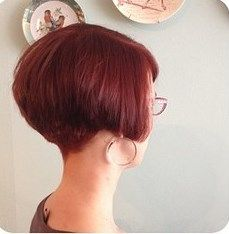 ear lobe length Inverted bob with tapered nape