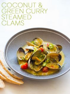 Coconut & Green Curry Steamed Clams