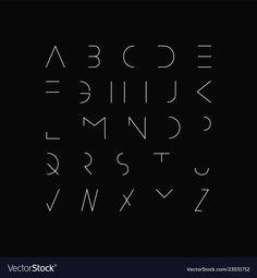 Minimal font - modern futuristic design vector image on VectorStock Minimal Font, Minimal Logo Design, Graphic Design, Typo Logo, Typography Fonts, Calligraphy Fonts, Script Fonts, Lettering Styles, Lettering Design