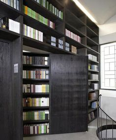 Love this Library and bookshelf design