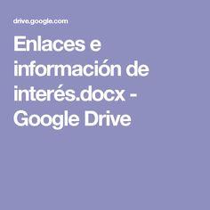 Enlaces e información de interés.docx - Google Drive