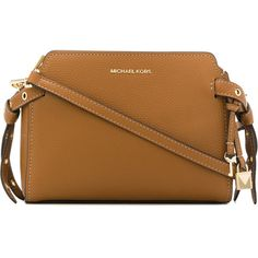 Michael Michael Kors Bristol messenger bag ($295) ❤ liked on Polyvore featuring bags, messenger bags, brown, brown crossbody, crossbody messenger bag, courier bags and genuine leather messenger bag