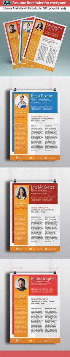 Resume  Cover Letter (A4  Letter) Resume cover letters, Font