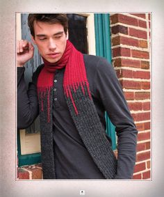 Free Tourniquet Scarf pattern from Vampire Knits by Genevieve Miller// if you did the red as white and the gray as blue or something it would look like ice sickles