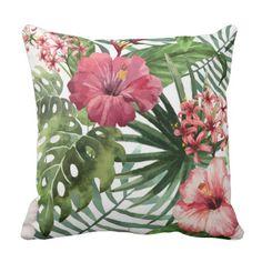 tropical home decor Tropical Bedrooms, Tropical Home Decor, Tropical Interior, Tropical Colors, Tropical Furniture, Coastal Decor, Floral Throw Pillows, Decorative Pillows, Home Decor Accessories