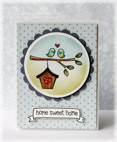 Lawn Fawn - Home Sweet Home and coordinating die