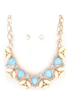 Ashton Necklace in Prussian Blue | Awesome Selection of Chic Fashion Jewelry | Emma Stine Limited
