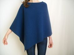 This poncho is made of soft boiled wool - 100% Merino Wool - Woolmark brand. Warm and comfortable, it will wrap you in cold days. It has an asymmetrical cut and round neckline.  Please, leave in a note: - your size, - your total height.  I will adapt the poncho to your size / height ( although the poncho is a very versatile item).  Your poncho will be ready to ship in 2 - 5 business days since I receive your order (payment confermation).