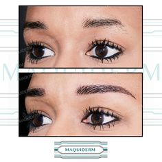 Sourcils finis - Maquillage permanent DERMOBLADING Permanent Makeup, Hair, Eyebrows
