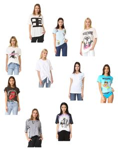 """""""T-shirts"""" by ramakumari on Polyvore featuring Marques'Almeida, Moschino, MadeWorn, Michaela Buerger, Baja East, N°21 and vintage"""
