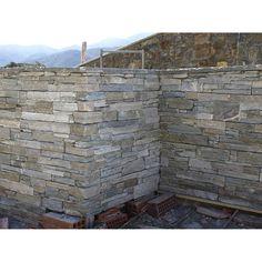 Plaquette de parement Nordic en pierre naturelle, gris nuancé