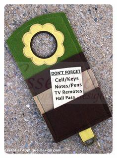 Essential Applique Design - ITH Flower Door Hanger, $6.99 (http://www.essentialappliquedesign.com/ith-flower-door-hanger/) #ITH