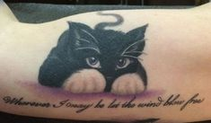 Lovely playful black cat tattoo - Cat Tattoos - Tattooimages.biz                                                                                                                                                     Mais