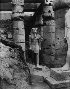 Ramesses II, Luxor, Egypt, 1880s from Rare Thing. Referred to as Ramesses the Great, was the third Egyptian pharaoh (reigned 1279 BC – 1213 BC) of the Nineteenth dynasty. He is often regarded as the greatest, most celebrated, and most powerful pharaoh of the Egyptian Empire.