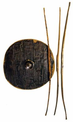 6thC shield and bows made of Yew, Oberflacht, Germany