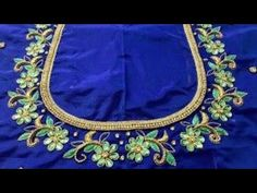 Aari Work With Normal Stitching Needle Cutwork Blouse Designs, Simple Blouse Designs, Bridal Blouse Designs, Simple Designs, Hand Designs, Hand Embroidery Design Patterns, Designer Blouse Patterns, Hand Work Embroidery, Aari Embroidery