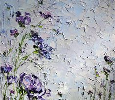 Купить Картина спальню купить фиолетовый интерьер спальни комнаты масло цветы - картина маслом