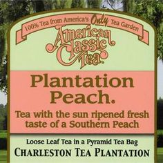 Charleston Tea Plantation Plantation Peach: ♥♥  Brought some home from my visit.  I love this stuff!!