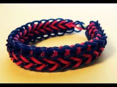 Rainbow Loom CORNROW Bracelet. Designed and loomed by Cheryl Mayberry. Click photo for YouTube tutorial. 06/06/14.
