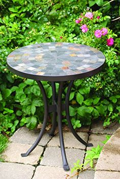 Outdoor Tables   Outdoor Interiors LLC 31625 Mosaic Side Table 18Inch * You  Can Find Out