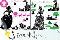 Fairytale - silhouette of princess by Lian-art on Creative Market