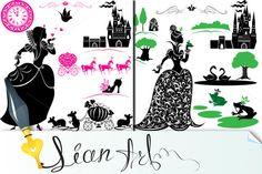 Fairytale - silhouette of princess by Lian-art on Creative Market