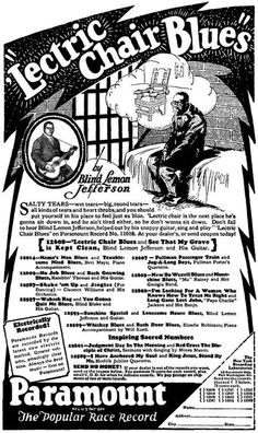 """Robert Crumb's illustrations have a signature style assumed to be entirely of his own creation, but like most artists he drew inspiration for his style from somewhere, and for Crumb that somewhere is an old set of ads for Paramount Records.These wonderfully illustrated ads ran in the Chicago Defender over 80 years ago, telling the stories behind popular """"race music"""" songs like Lock-Step Blues and So Lonesome by artists such as Blind Lemon Jefferson and Ma Rainey.Crumb's interest i..."""
