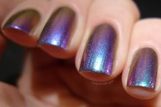 Cool metallic jewel tone nails for your wedding day