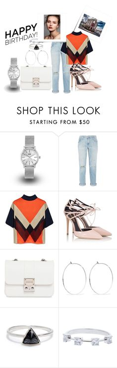 """""""Celebrate Our 10th Polyversary!"""" by felipepanizzi ❤ liked on Polyvore featuring Post-It, KENNY, Current/Elliott, Mulberry, Fratelli Karida, Design Inverso, Catbird and Bing Bang"""