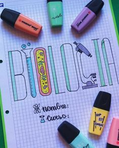 Bullet Journal School, Bullet Journal Writing, Bullet Journal Banner, Bullet Journal Ideas Pages, Bullet Journal Inspiration, Notebook Art, Notebook Covers, Journal Fonts, Stabilo Boss