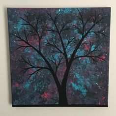 Pink and teal twilight sky!!!One of a kind, painting in the photo is the one you will receive.Traditional 12x12 custom canvas!! The sides are painted and the staples are on the back so it can be hung with or without a frame. Colors may vary slightly due to the differences in calibration of monitors.The painting is signed and I want you happy with your purchase.Please do not hesitate to ask me any question and I'll get back to you at the earliest opportunity.Thanks for loving my art!