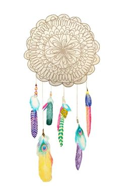 make with feathers, beads and a doily?