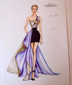 fashion illustration fashion art in croquis de conception - fashion dress drawing Dress Design Sketches, Fashion Design Sketchbook, Fashion Design Drawings, Fashion Sketches, Drawing Sketches, Drawing Style, Drawing Ideas, Fashion Model Drawing, Fashion Drawing Dresses