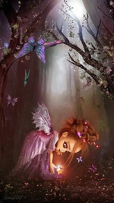 Discover & share this Animated GIF with everyone you know. GIPHY is how you search, share, discover, and create GIFs. Fairy Dust, Fairy Land, Fairy Tales, Fantasy Kunst, Fantasy Art, Elfen Fantasy, Love Fairy, Beautiful Fairies, Beautiful Gif